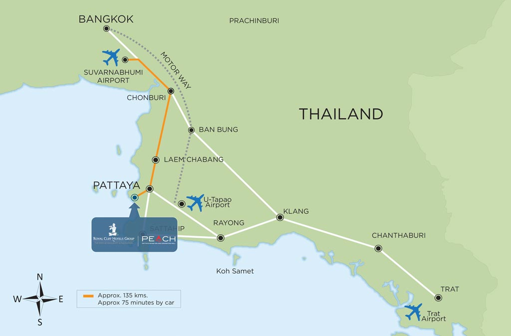 PEACH Pattaya Map